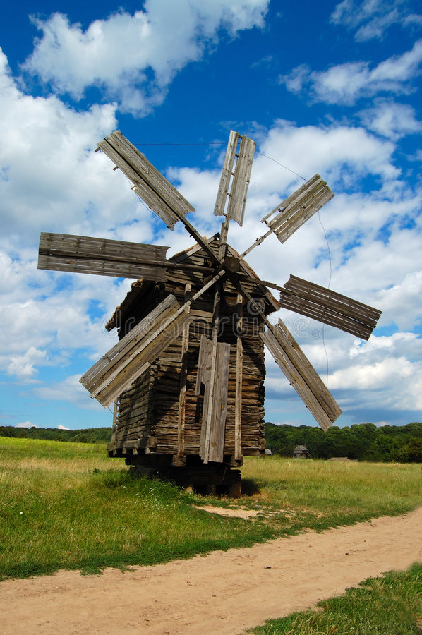 Oude windmolen royalty-vrije stock fotografie