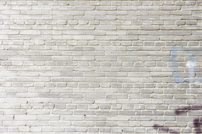 Oude witte bakstenen muur als achtergrond royalty-vrije stock foto's