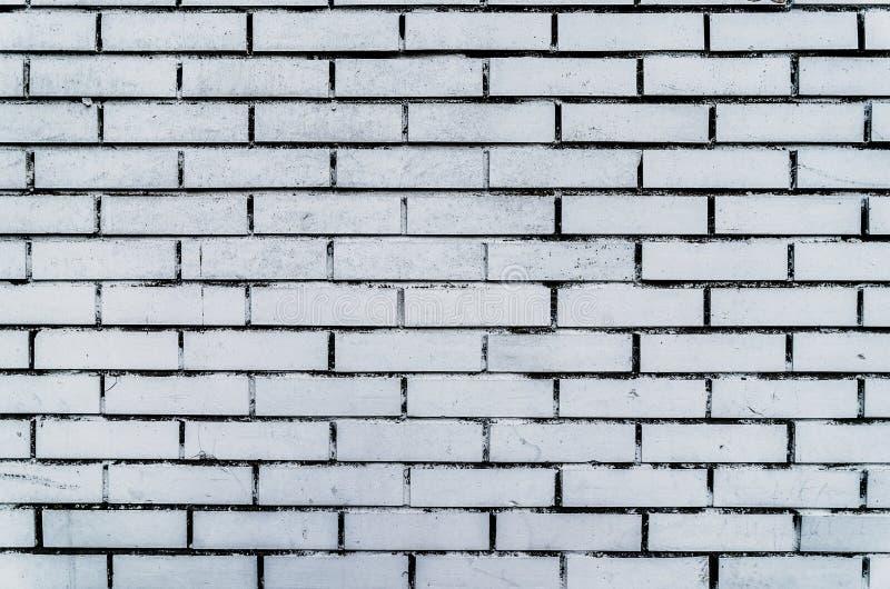 Oude Witte Bakstenen muur Geweven Achtergrond De uitstekende Vierkante Vergoelijkte Textuur van Brickwall Oppervlakte van het Gru stock afbeeldingen