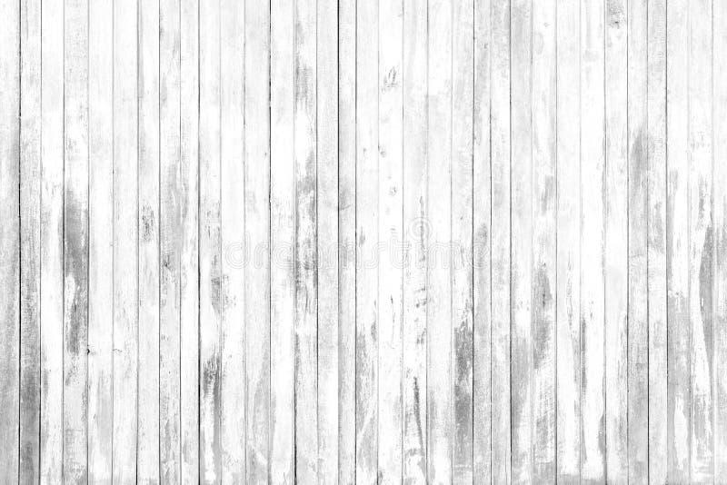 Oude witte grijze houten textuur en achtergrond in uitstekende toon stock fotografie
