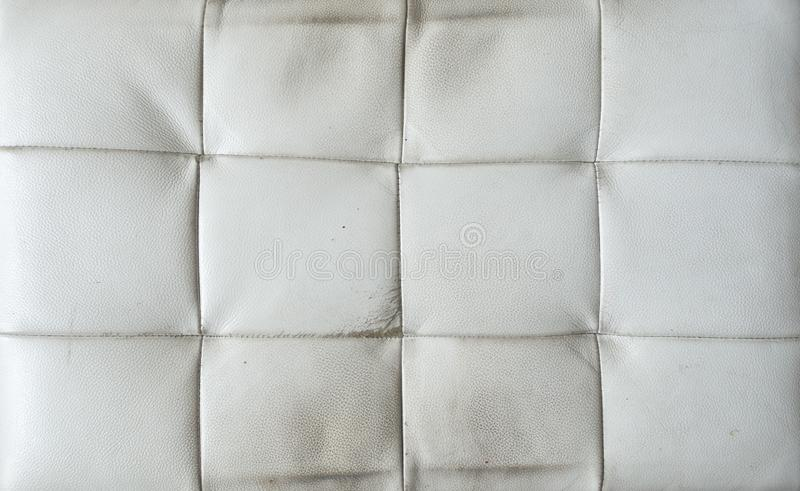 Oude witte leertextuur stock foto's