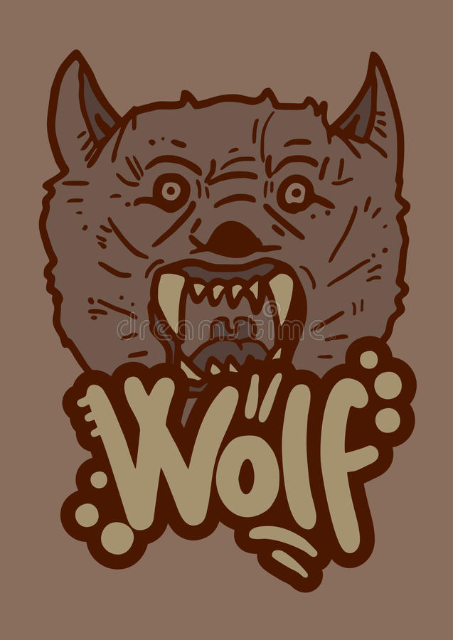 Oude wolf royalty-vrije illustratie