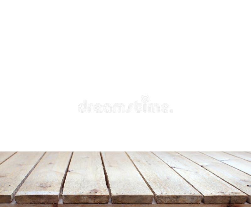 Oude wooddesk met witte achtergrond royalty-vrije stock foto's