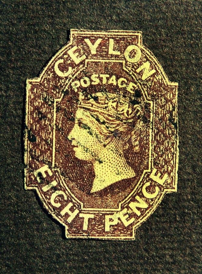 Oude zegel royalty-vrije stock afbeeldingen