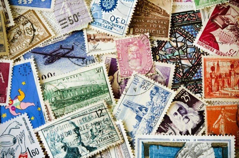 Oude Zegels royalty-vrije stock afbeeldingen
