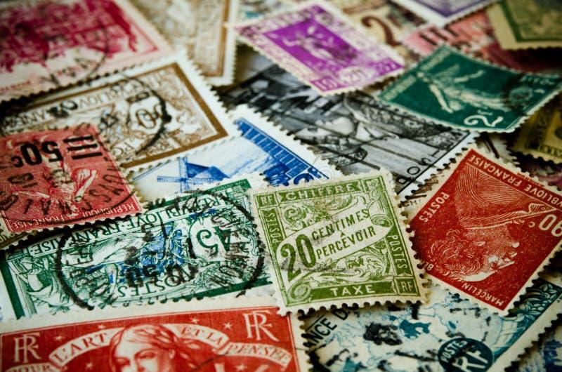 Oude Zegels royalty-vrije stock foto