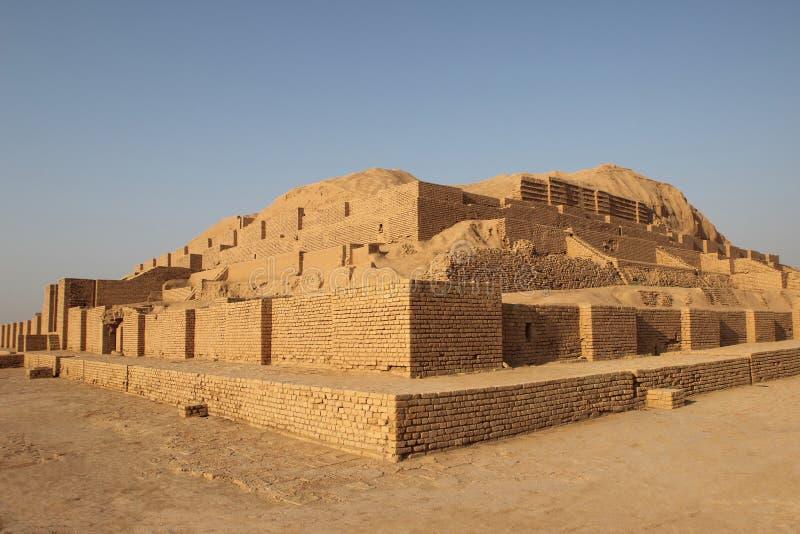 Oude ziggurat Chogha Zanbil, Iran stock fotografie
