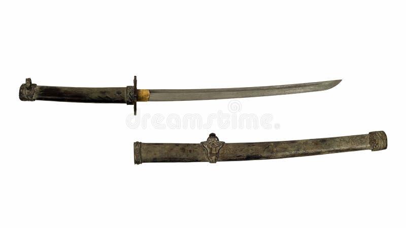 Oude zwaard en schede royalty-vrije stock foto