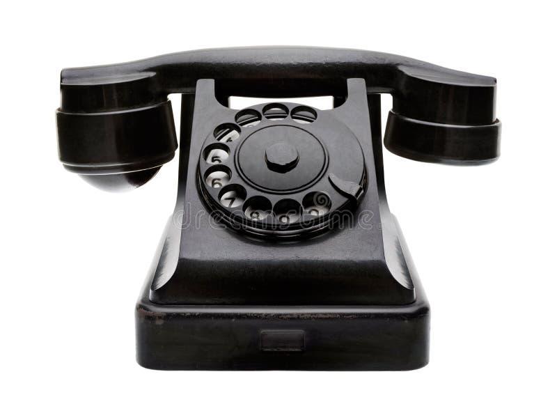 Oude zwarte telefoon royalty-vrije stock afbeeldingen