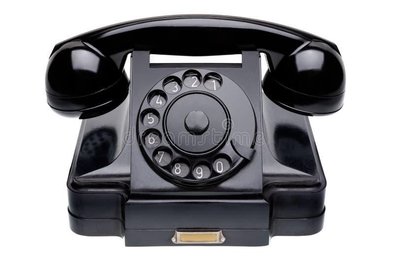 Oude zwarte telefoon royalty-vrije stock foto