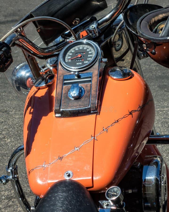 Ouder Harley Davidson stock afbeelding