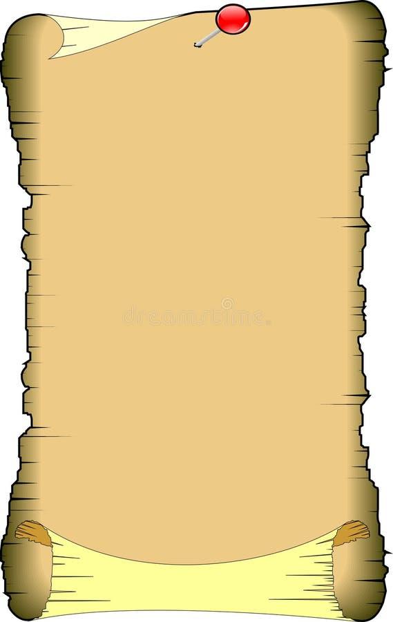 Oudere manuscripten lege vector royalty-vrije illustratie