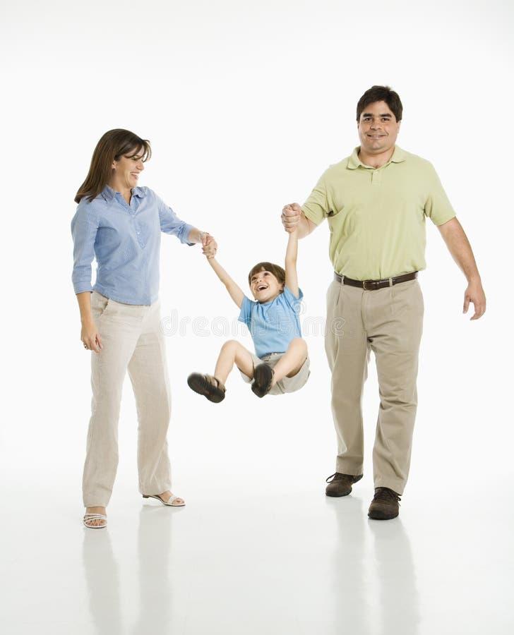 Download Ouders Die Zoon Slingeren. Stock Foto's - Afbeelding: 2771363