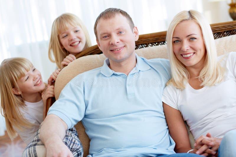Ouders en dochters stock foto