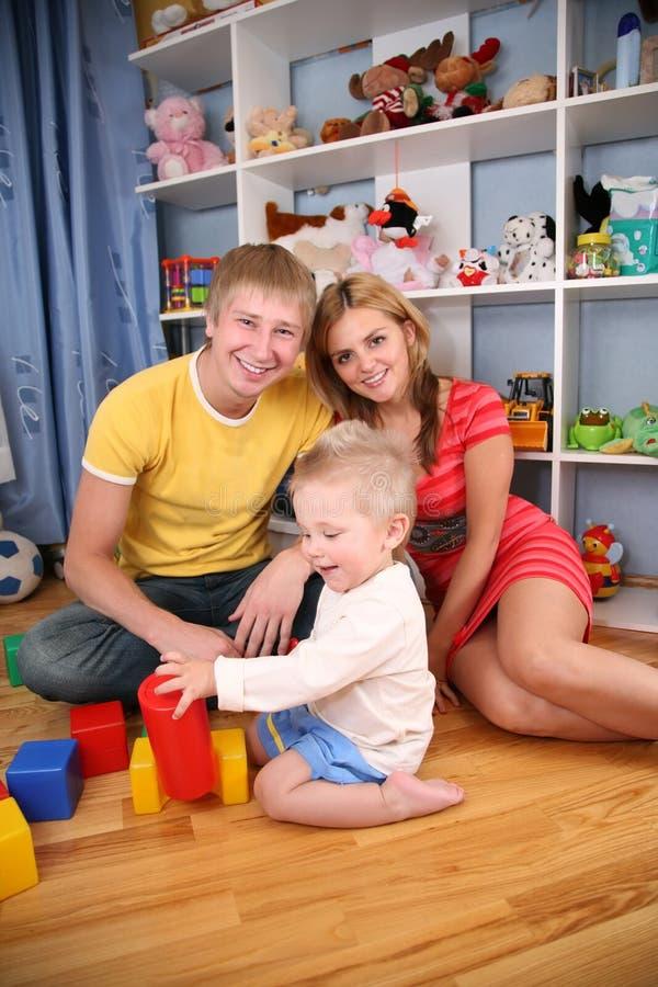Ouders en kind royalty-vrije stock fotografie