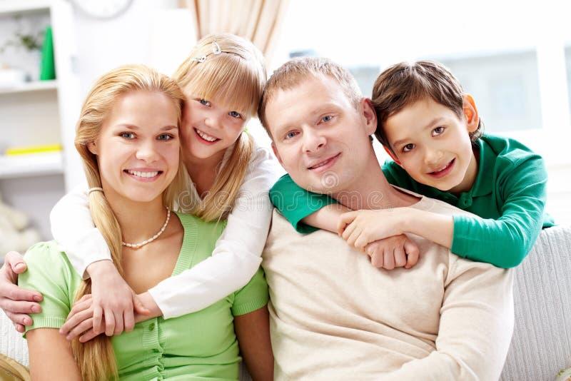Ouders en kinderen stock fotografie