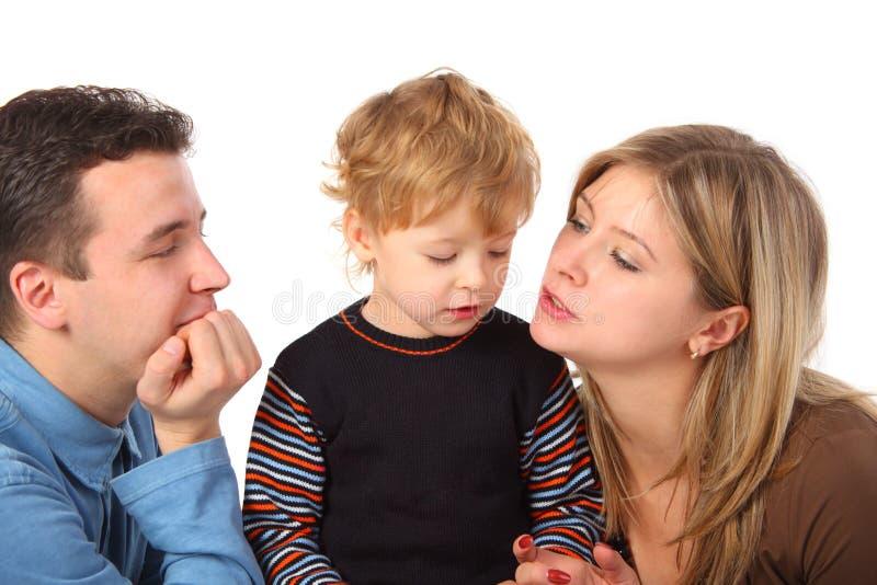 Ouders en zoon stock afbeelding