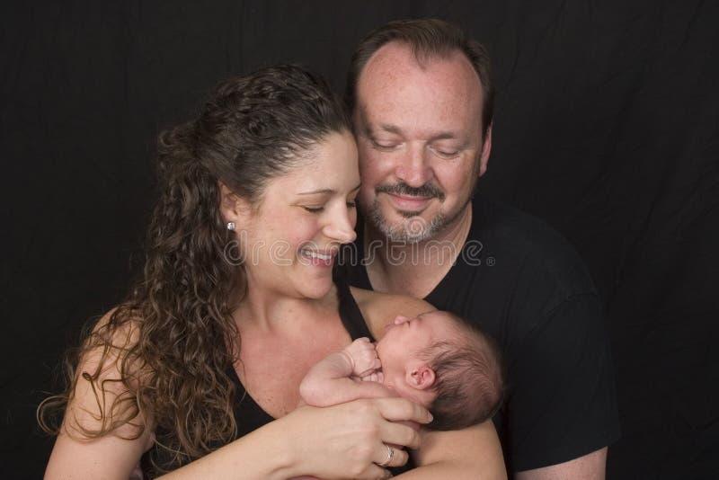 Ouders met babymeisje royalty-vrije stock afbeelding