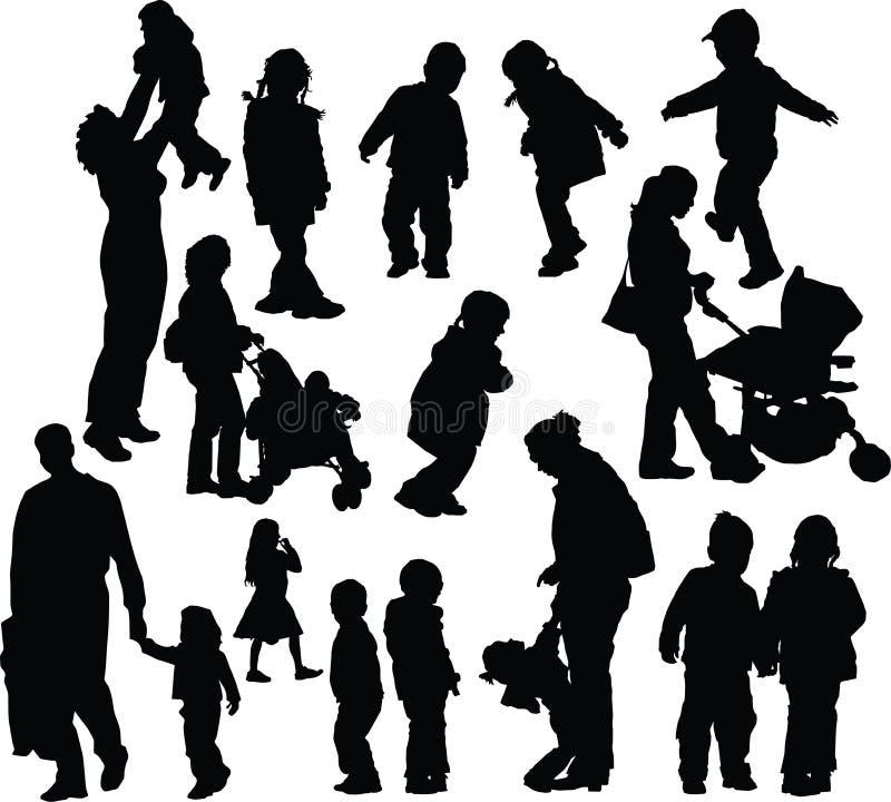 Ouders met kinderen royalty-vrije stock afbeelding