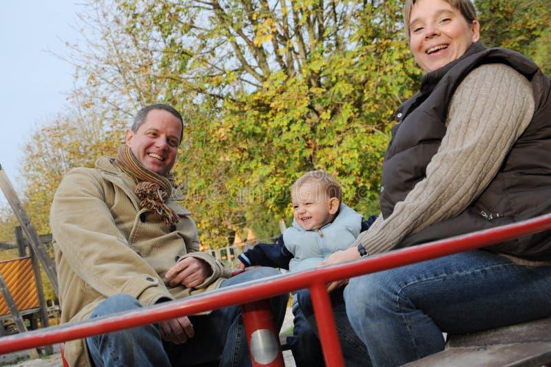 Ouders met zoon royalty-vrije stock foto's