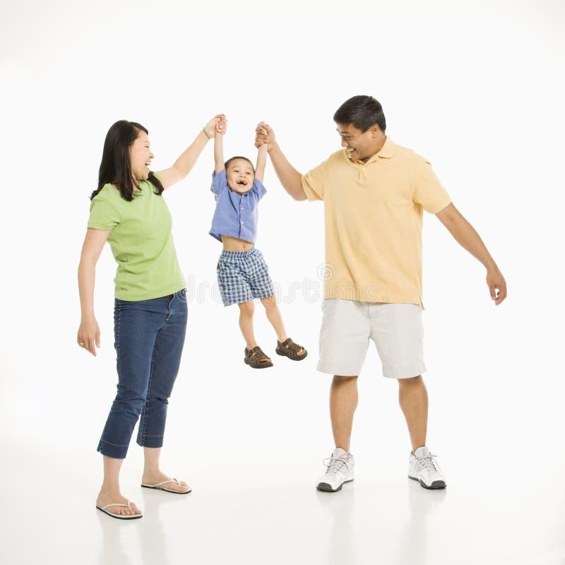 Ouders met zoon. stock foto
