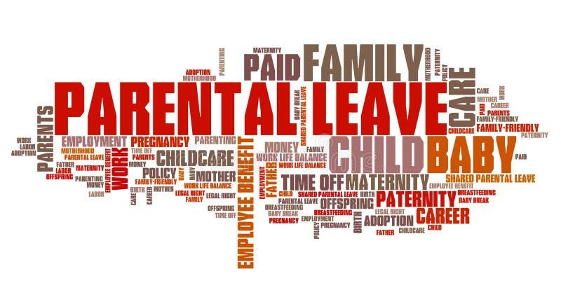 Ouderschapsverloven vector illustratie