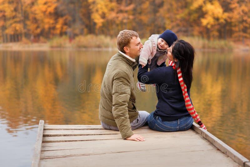 Oudersspel met weinig dochter royalty-vrije stock afbeelding