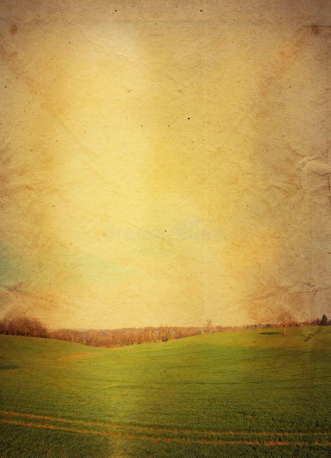 Ouderwets artistiek landschap royalty-vrije stock afbeeldingen