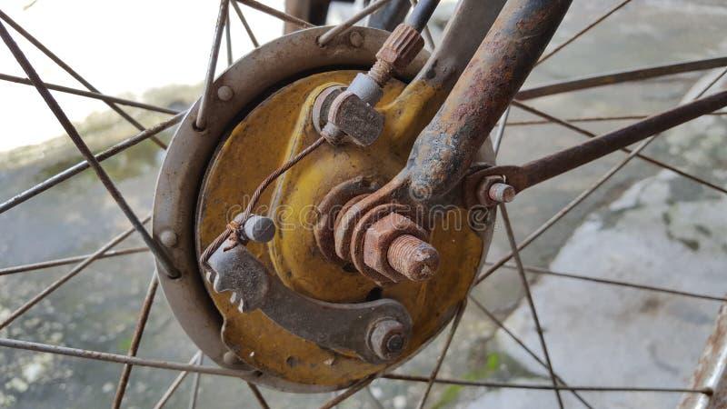 Ouderwets fietsremsysteem royalty-vrije stock afbeelding