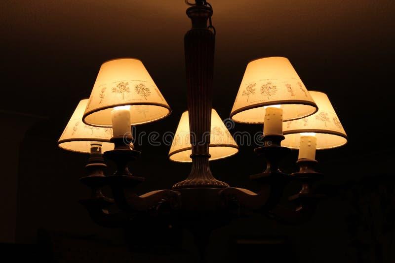 Ouderwets houten licht stock afbeelding