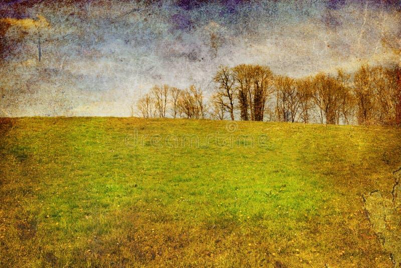 Ouderwets landschap stock afbeeldingen
