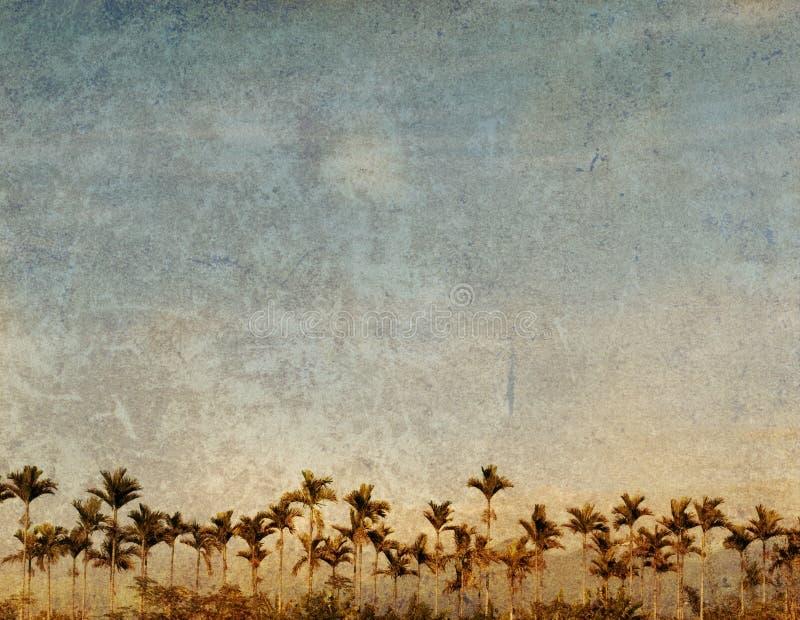 Ouderwets landschap stock illustratie
