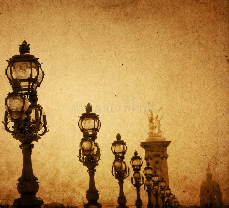 Ouderwets Parijs Frankrijk stock afbeeldingen