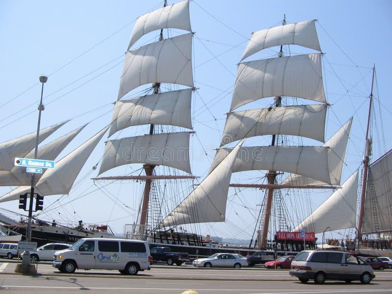 Ouderwets varend schip van Californië stock foto's