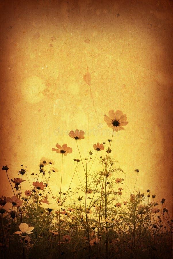 Ouderwetse bloem vector illustratie
