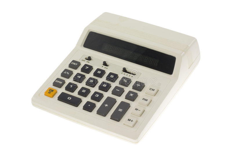 Ouderwetse calculator royalty-vrije stock foto's