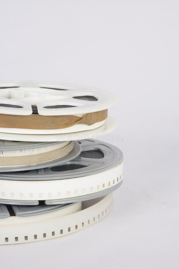 Ouderwetse filmfilm op spoelen royalty-vrije stock fotografie
