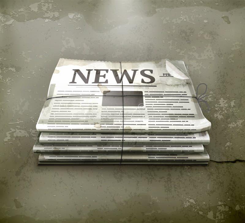 Ouderwetse krant, vector illustratie