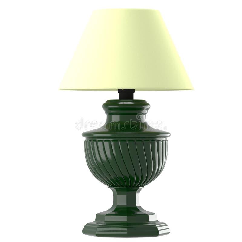 Ouderwetse lamp met beige lampekap vector illustratie