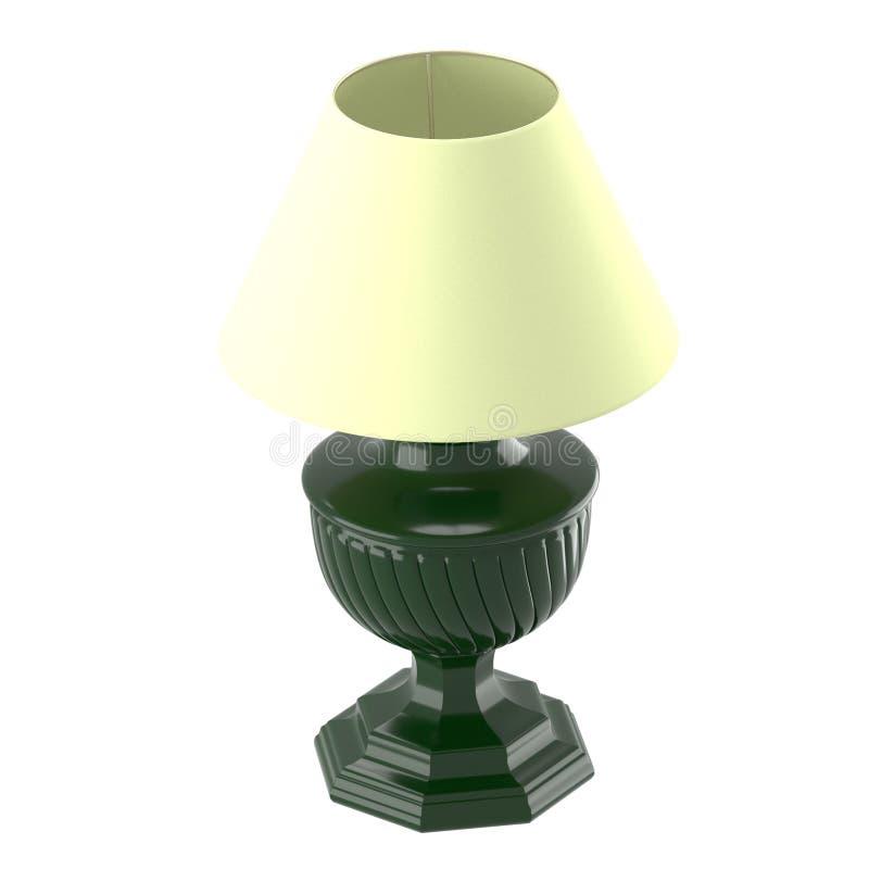 Ouderwetse lamp met beige lampekap royalty-vrije illustratie