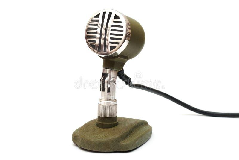Ouderwetse microfoon stock fotografie