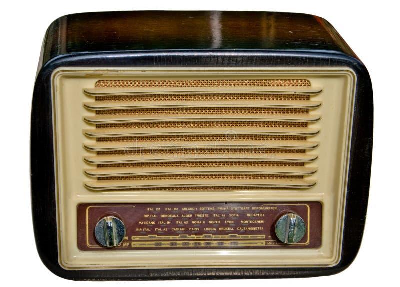 Ouderwetse radio royalty-vrije stock foto's