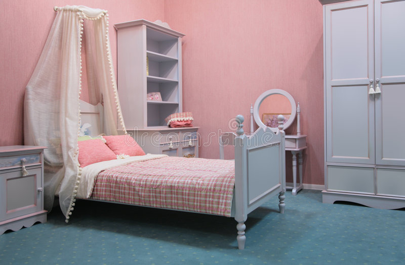 Ouderwetse slaapkamer stock fotografie