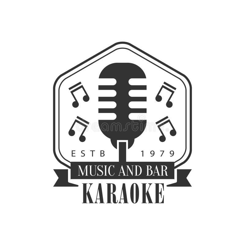 Ouderwetse Stadiummicrofoon in van de de Premiekwaliteit van de Kaderkaraoke van de de Barclub van het de Bevorderings Retro Teke vector illustratie