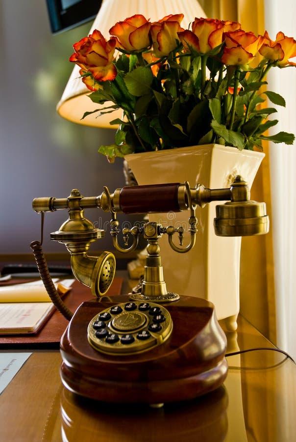 Ouderwetse telefoon stock afbeeldingen