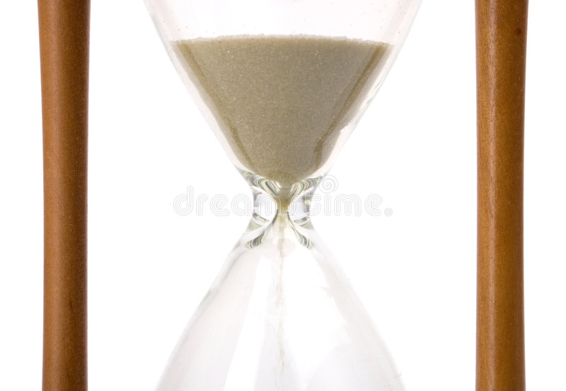 Ouderwetse zand-glazen royalty-vrije stock foto