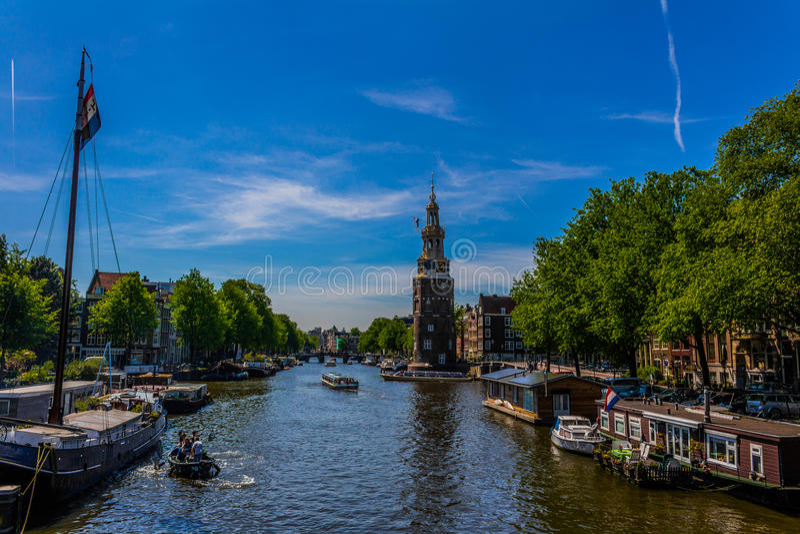 Oudeschans, Амстердам стоковая фотография