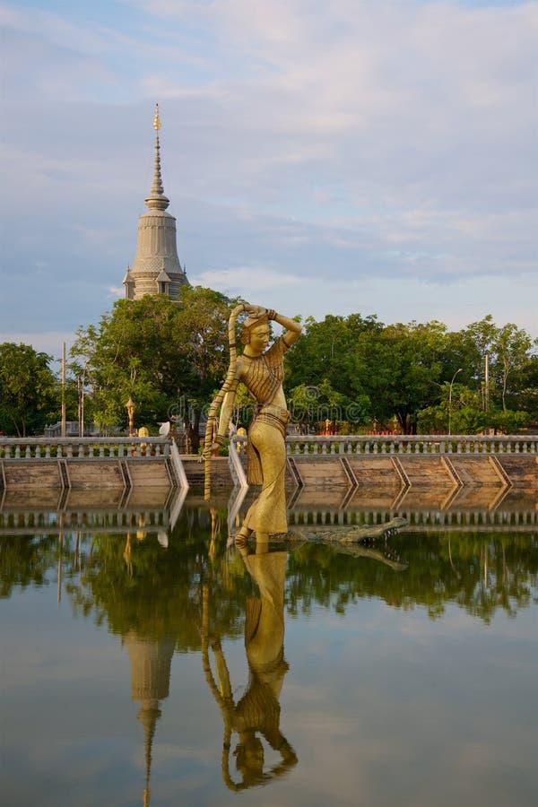 Oudong老资本柬埔寨 免版税库存图片