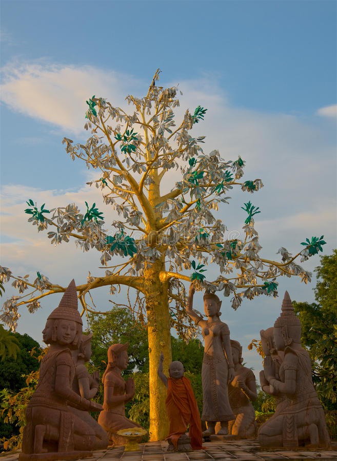 Oudong老资本柬埔寨 图库摄影