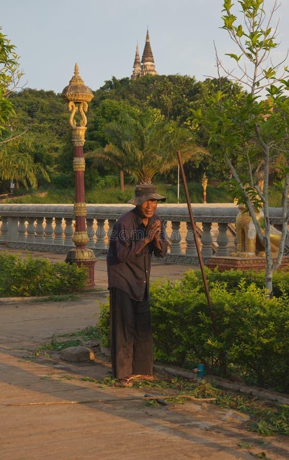 Oudong老资本柬埔寨 库存照片